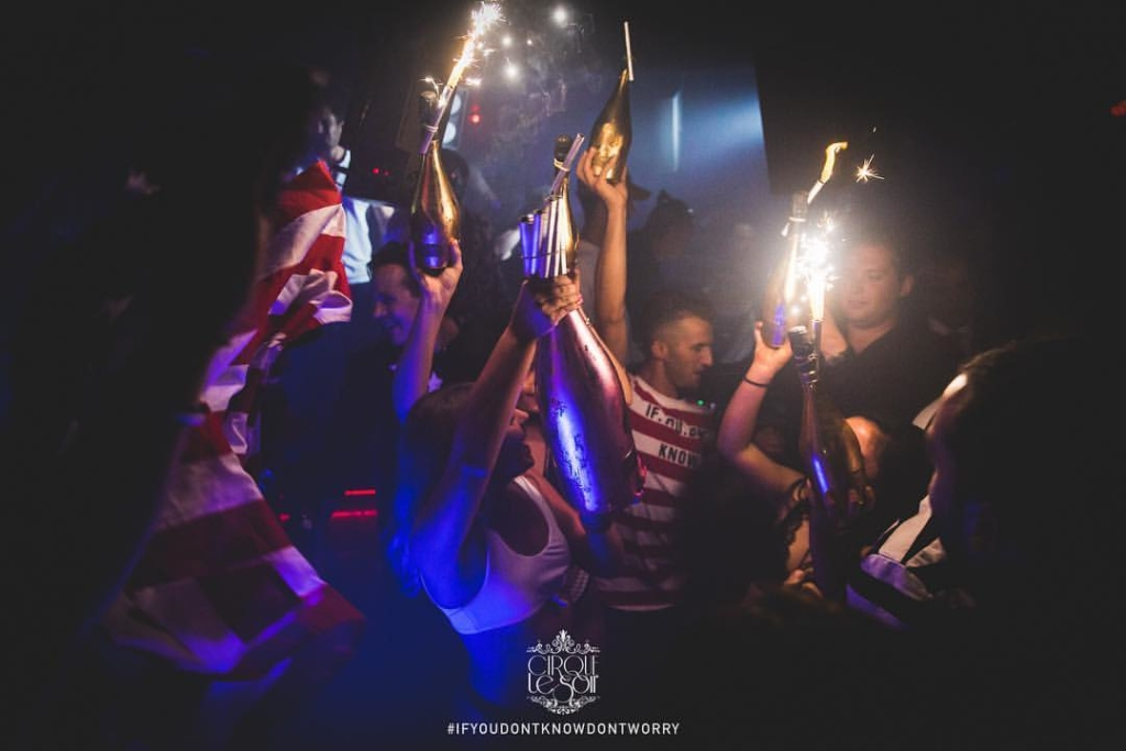 cirque le soir vip table in birthday packages at cirque