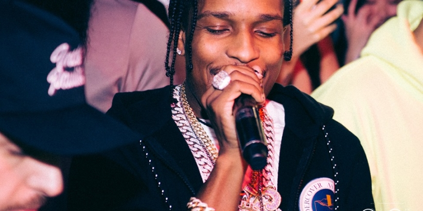 asap rocky at tape london