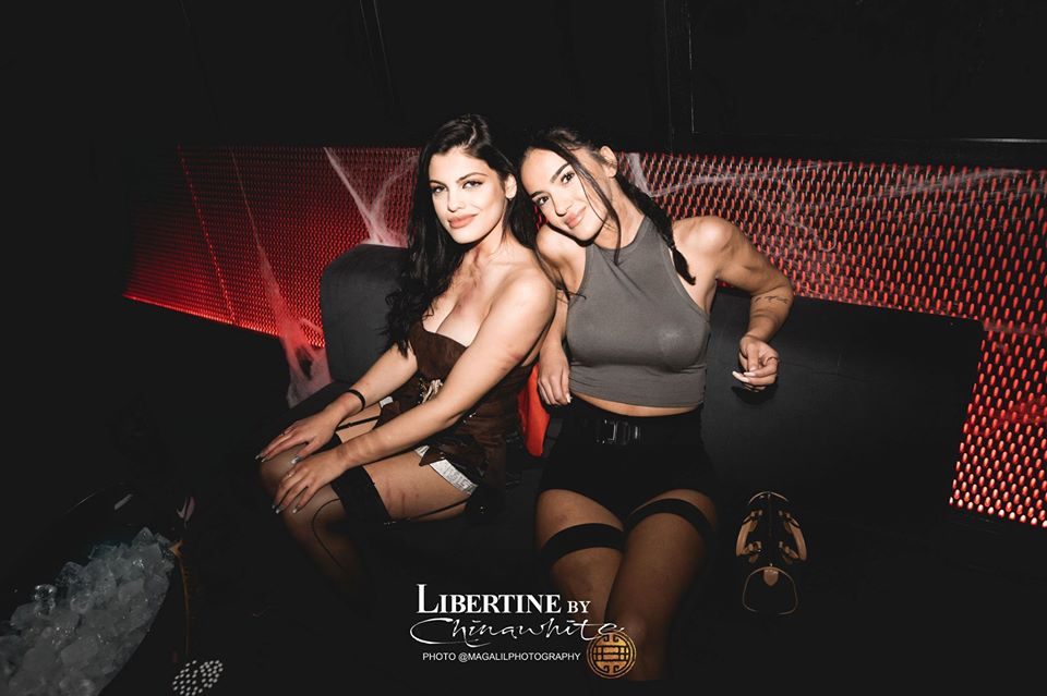girls on table booking at libertine