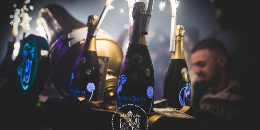 bottle menu at cirque london
